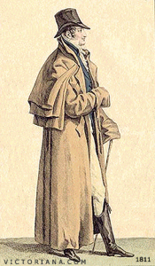 Great coat with capes, circa 1811.
