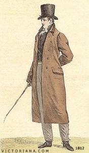A simpler overcoat for a stroll in the park or night at Vauxhall Gardens.