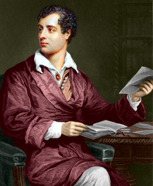 Portrait of Lord Byron for the Beau Monde blog article