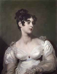 Head and sholders portrait of Elizabeth Grosvenor