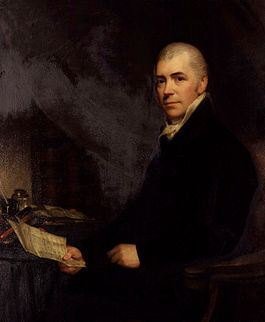 Portrait of Sir Henry Halford, seated, looking a book.
