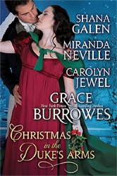 Cover for Christmas in the Duke's Arms by Shana Galen, Miranda Neville, Carolyn Jewel, and Grace Burroughs