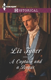 Cover for A Captain and A Rogue by Liz Tyner